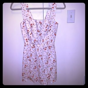 Reformation white floral linen dress
